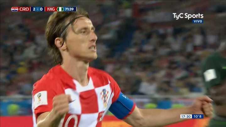 Modric cambió el penal por gol