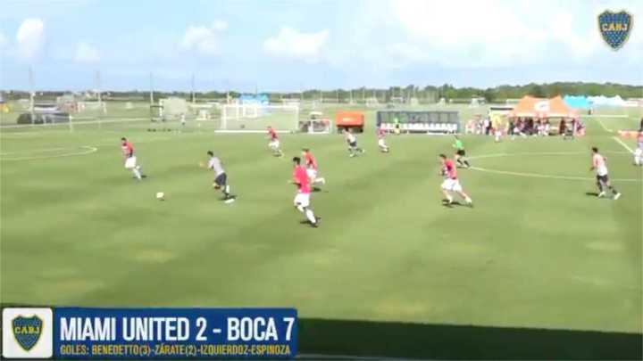 Mirá los goles de Boca en los dos amistosos ante Miami United