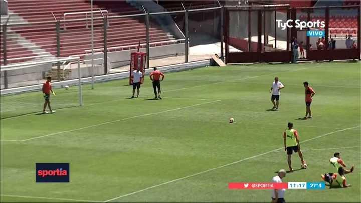Independiente practicó penales