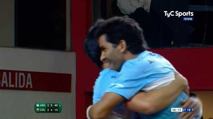 La dupla argentina venció a Colombia