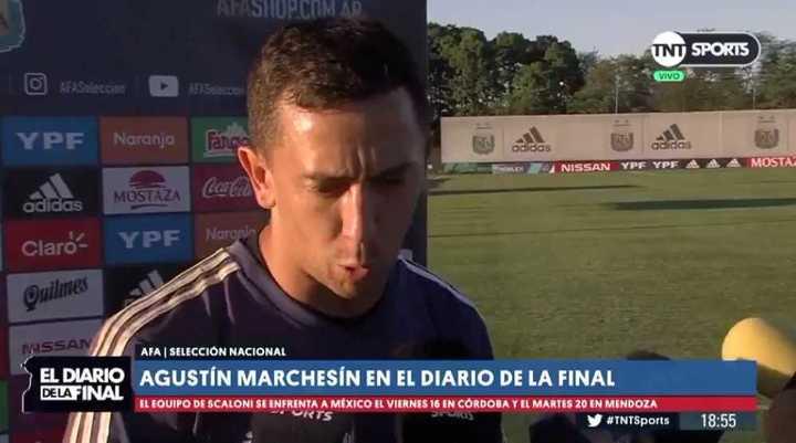 Marchesín habló con la prensa