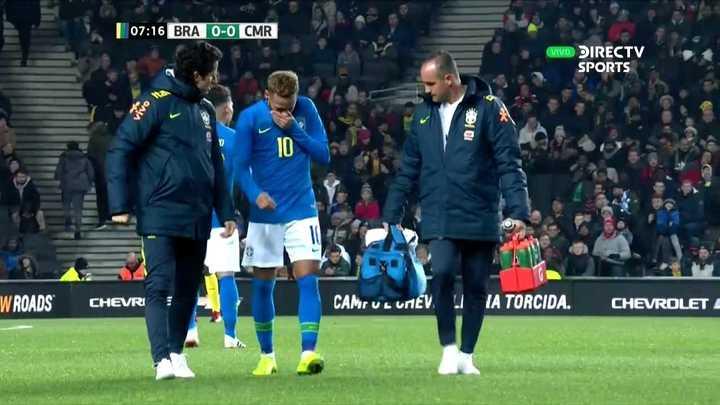 Neymar se lesionó