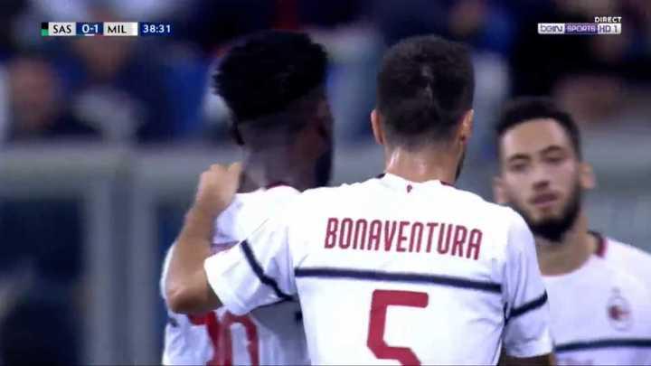 Franck Kessié marcó un gran gol para el Milan