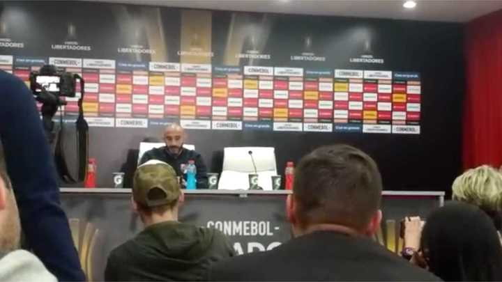 Pinola habló sobre el partido ante Independiente