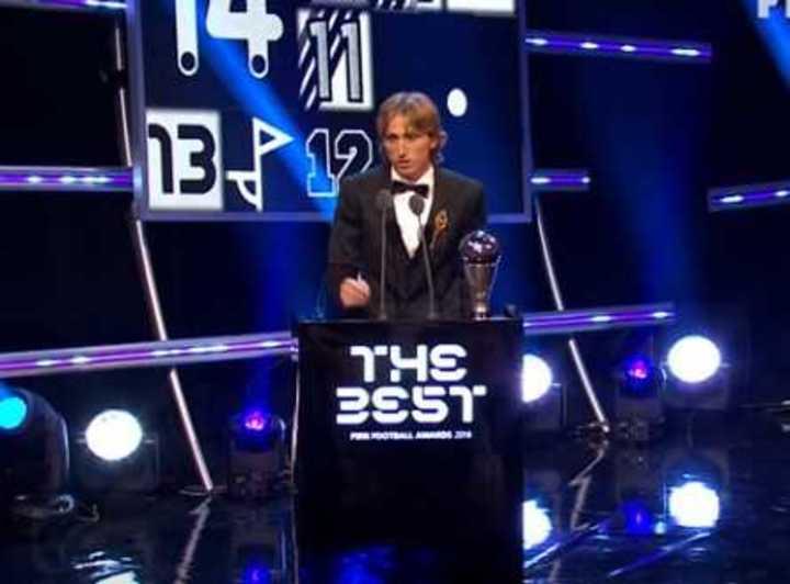 El momento en el que Luka Modric ganaba el premio The Best