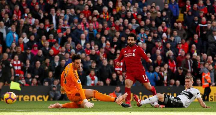 Salah aprovechó una contra para poner el 1-0 de Liverpool frente a Fulham