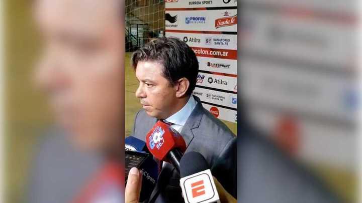 El Muñeco habló luego del partido ante Colón