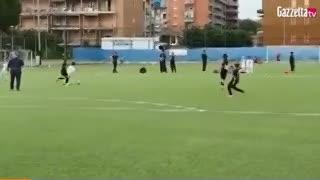 Uno de los goles de Cristiano Ronaldo en las juveniles de la Juve