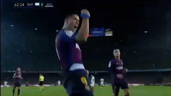 Penal y gol, todo de Lucho Suárez