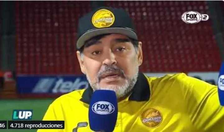 Maradona hablando sobre Messi desde México