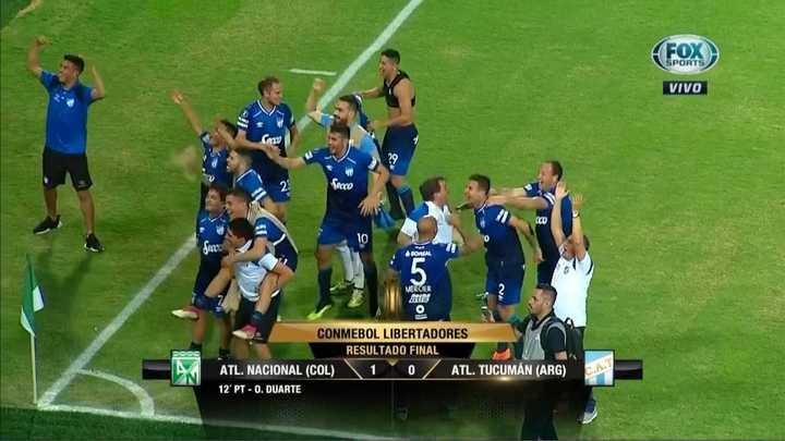 Los festejos tras la clasificación de Atlético Tucumán