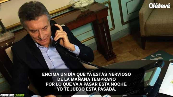 Macri habló de fútbol en una radio de La Rioja