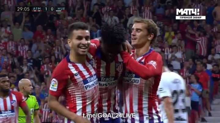 Partey puso el 2 a 0 para el Atlético de Madrid