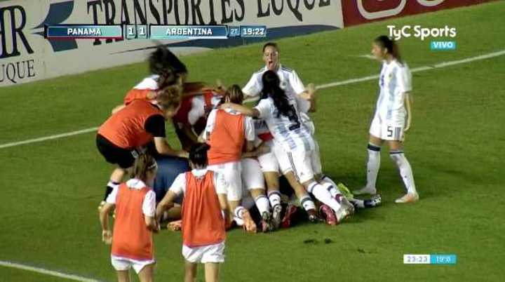Argentina empató con gol de Bonsegundo