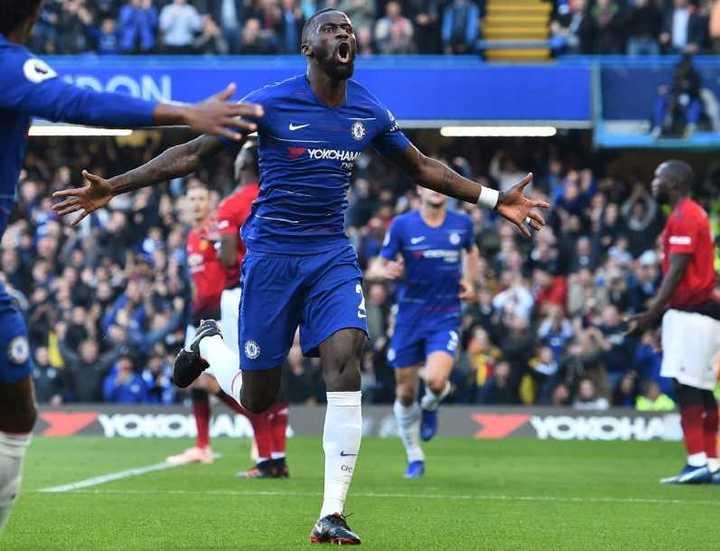 Rudiger, de cabeza, puso el 1-0 para el Chelsea frente al United