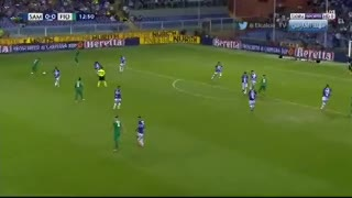 Gio Simeone puso el 1-0 ante la Sampdoria
