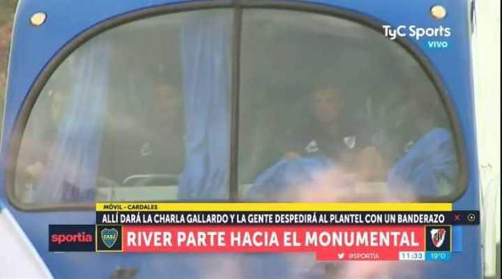 River salió de Cardales hacia el Monumental