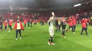 Los festejos del Sevilla con presencia argentina