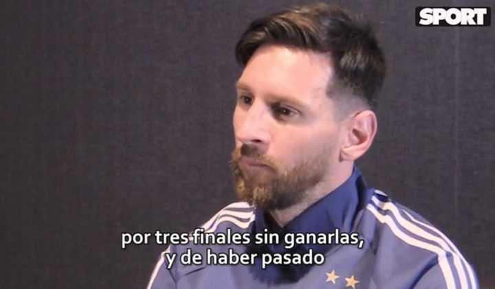 Messi habló de las tres finales perdidas