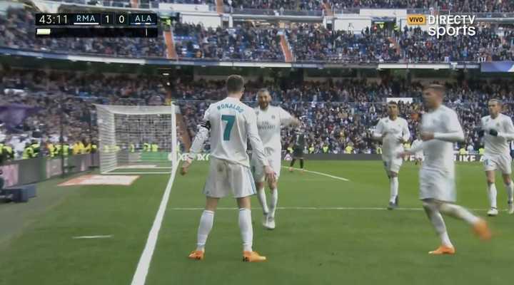 Taco de Benzema y gol de Cristiano