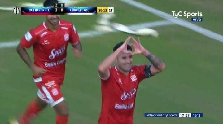 Los goles de San Martín ante Agropecuario