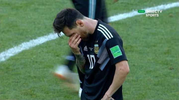 El lamento de Messi