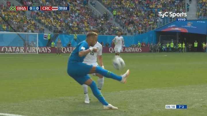 Neymar haciendo de las suyas