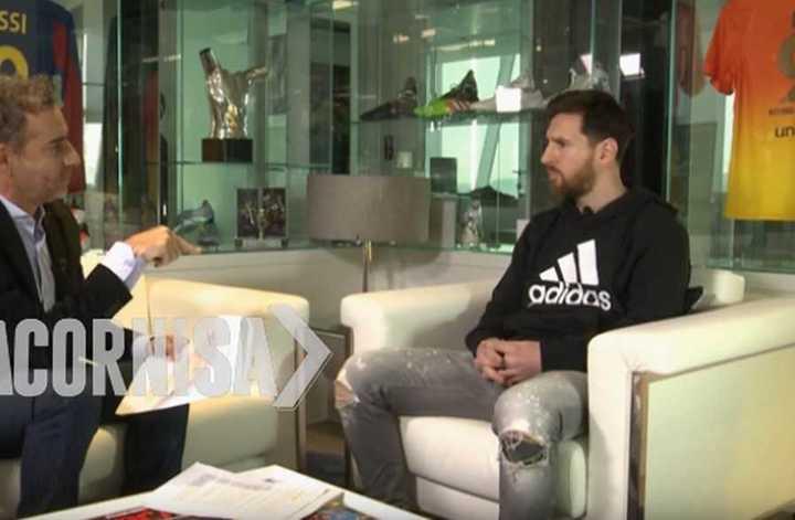 Adelanto de la entrevista a Messi