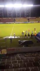 Aucas - U Católica, con jugadores pero sin árbitros.
