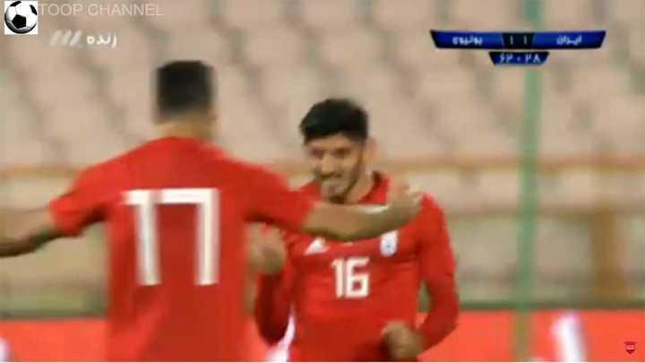 El segundo gol de Irán a Bolivia
