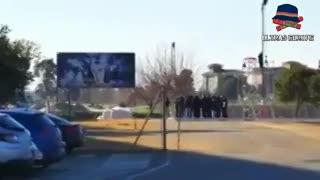 La presencia de los Biris, la barra del Sevilla, en el entrenamiento