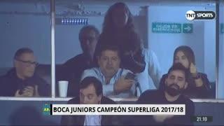 El gesto de Angelici tras el triunfo de Boca