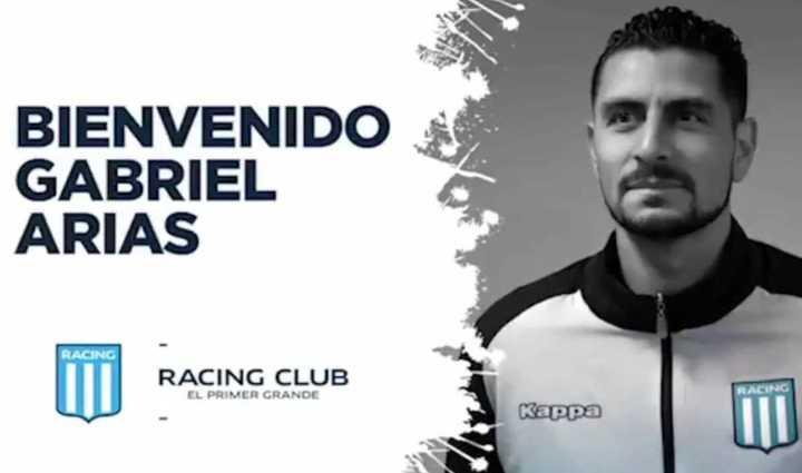 Gabriel Arias en Racing