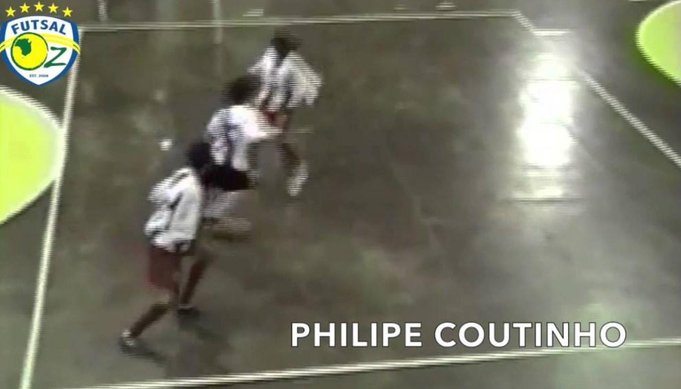 Coutinho la rompía también cuando jugaba futsal