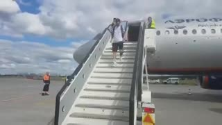 La Selección aterrizó en San Petersburgo