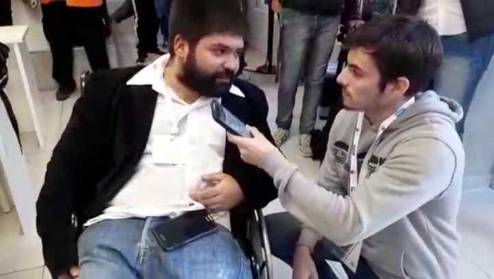 El periodista que le regaló la remera a Sampa, hablando con Olé