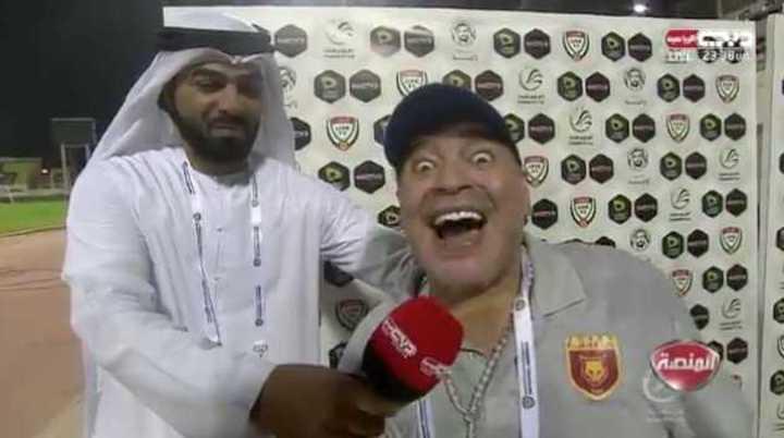 Así Maradona confirmó continuidad en el Fujairah