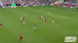 El gol de Salah para el Liverpool ante West Brom