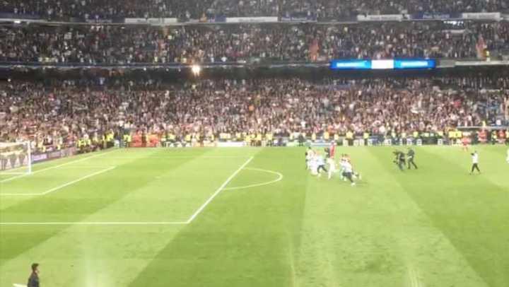 El festejo del Real Madrid desde adentro