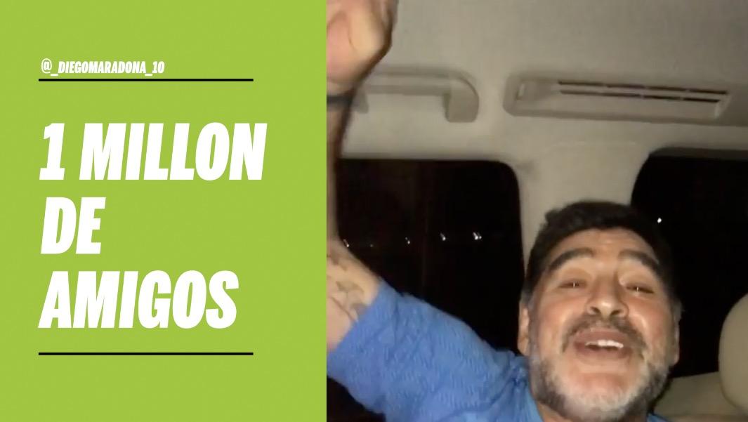 Diego canta más fuerte con su millón de amigos