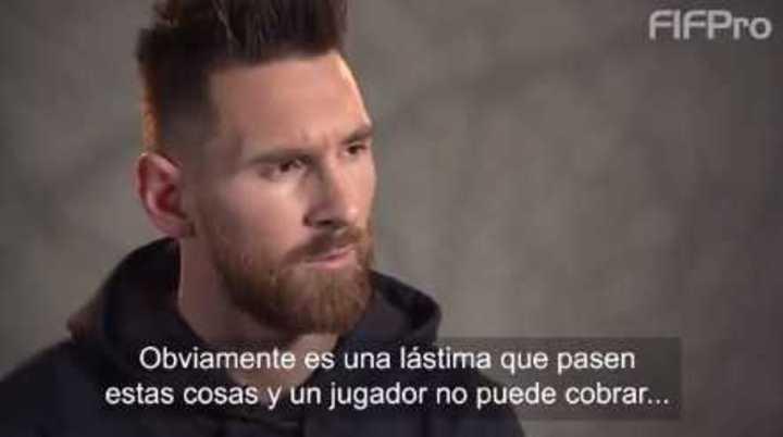 Messi y su mirada sobre los futbolistas como trabajadores