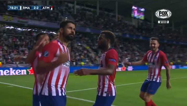 Doblete de Costa para el empate del Atlético de Madrid