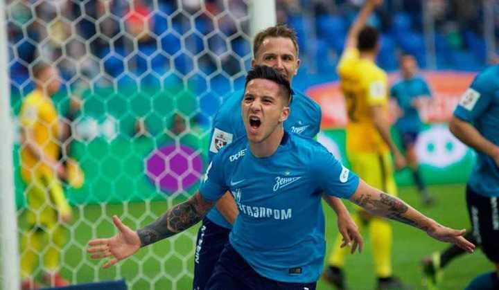 El gol de Driussi al Anzhi para el triunfo del Zenit