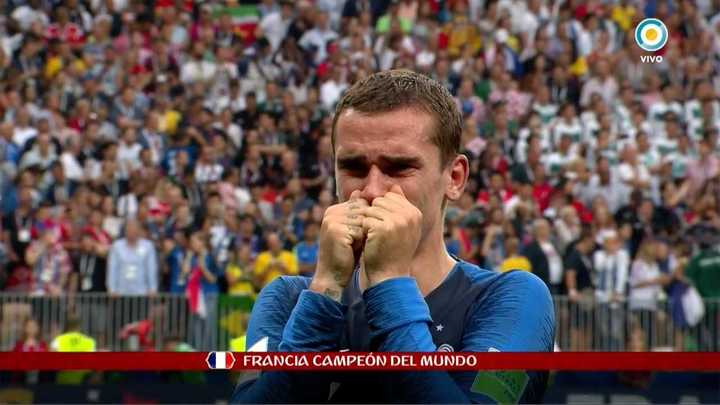 El llanto de Griezmann en la final