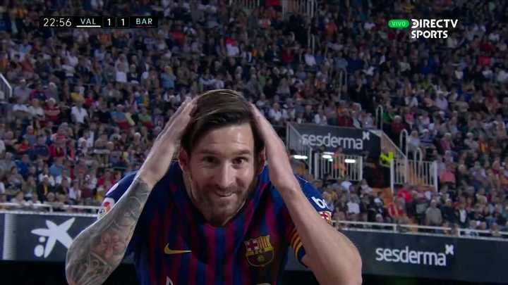 Messi la esquinó y empató el partido