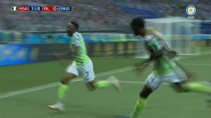 Gol de Nigeria y respira Argentina