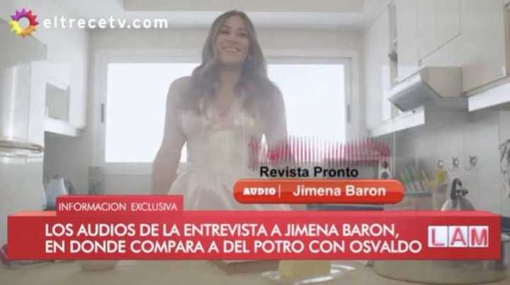 Jimena Barón habló de Del Potro y Osvaldo