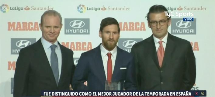 El diario Marca premió a Messi