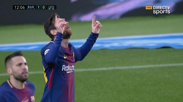 Con una volea terrible, Messi convirtió su primer gol en el 2018