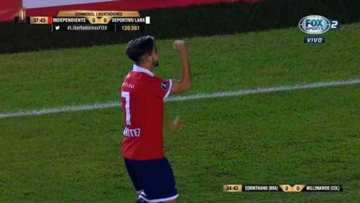 Benítez puso el 1 a 0 del Rojo